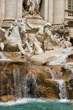 Fontana di Trevi i Rome Italien Royaltyfria Bilder