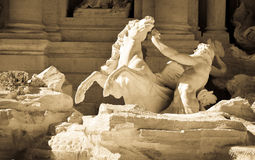 Fontana di Trevi i Rome, Italien Arkivbild