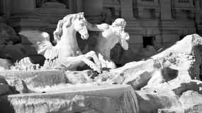 Fontana di Trevi i Rome, Italien Arkivbilder