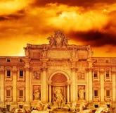 Fontana di Trevi (Italia, Roma) Fotografia Stock Libera da Diritti