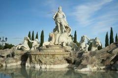 Fontana di trevi reproduktion Parque de Europa royaltyfria foton
