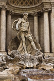 Fontana di Trevi in Rom Italien Stockfoto