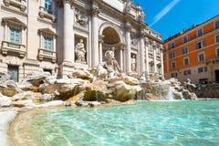 Fontana di Trevi a Roma Fotografie Stock Libere da Diritti