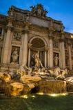 Fontana di Trevi, Roma, Italia fotografia stock libera da diritti