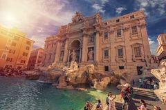 Fontana di Trevi - Roma - legenda e beleza imagem de stock