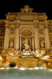 Fontana di Trevi, Rome. The Trevi Fountain is a fountain in the Trevi district in Rome, Italy. Standing 26 metres (85.3 feet) high and 20 metres (65.6 feet) wide Royalty Free Stock Photo