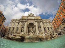 Fontana di Trevi,rome. The Trevi Fountain is the largest and one of the most famous fountains in Rome; it is also one of the most famous fountains in the world Royalty Free Stock Images