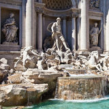 Fontana di Trevi - Rome, italy Stock Photos