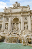 Fontana di Trevi in Rome - Italy. Detail from the Baroque fountain of Trevi in Rome - Italy Royalty Free Stock Photos