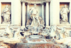 Fontana di Trevi in Rome Royalty Free Stock Image