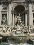 Fontana di Trevi in Rome Stock Photos