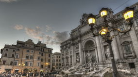 Fontana di Trevi. ROME, ITALY - OCTOBER 26 2011 Timelapse of Fontana di Trevi (Trevi fountain) at 26th of October in Rome, Italy stock footage