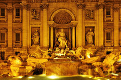 Fontana di Trevi in Rome, Italy Royalty Free Stock Images