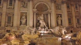 Fontana di Trevi in Rome stock footage