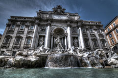 Fontana di Trevi, Rome. Fontana di Trevi, one of the most famous tourist attractions of Rome, Italy Stock Photo