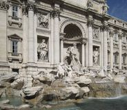 Fontana di Trevi in sunny ambiance Stock Images