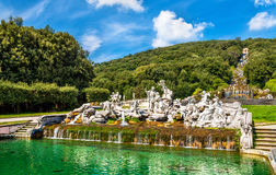 Fontana di Venere e Adone at the Royal Palace of Caserta Stock Image