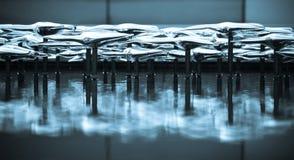 Fontana di vetro Fotografia Stock