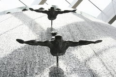 Fontana in Doubai Fotografia Stock Libera da Diritti