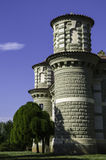 Fontana drewien rezydencja ziemska Zdjęcia Royalty Free