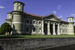 Fontana drewien rezydencja ziemska Obrazy Royalty Free