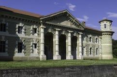 Fontana drewien rezydencja ziemska Obrazy Stock