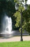 Fontana e lanterna Fotografie Stock