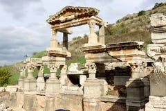 Fontana Ephesus di Traian Fotografie Stock