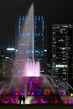 Fontana famosa e Skiline del Chicago Fotografia Stock