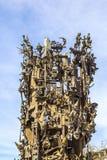 Fontana famosa Fastnachtsbrunnen di carnevale a Mainz fotografie stock
