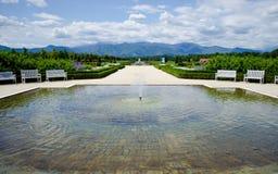Fontana fuori di Reggia di Venaria - Torino, Italia immagini stock