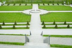 Fontana & giardino Fotografia Stock Libera da Diritti