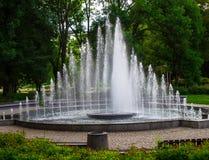 Fontana in giardino Fotografia Stock Libera da Diritti