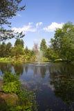 Fontana in giardino botanico fotografia stock