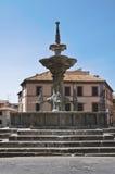Fontana Grande. Viterbo. Lazio. Italië. Royalty-vrije Stock Afbeeldingen