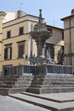 Fontana Grande. Viterbo. Lazio. Italy. Royalty Free Stock Photo
