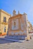 Fontana greca. Gallipoli. La Puglia. L'Italia. Fotografia Stock