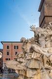 Fontana II di Navona della piazza immagine stock libera da diritti