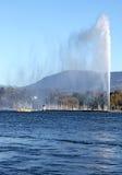 Fontana il lago Lemano di D'eau del getto Immagini Stock