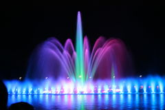 Fontana illuminata Immagini Stock Libere da Diritti