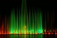 Fontana illuminata Fotografia Stock