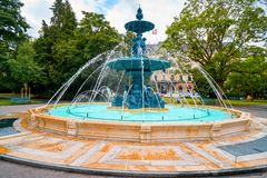 Fontana inglese del giardino in Geneve Geneva Swiss immagine stock libera da diritti