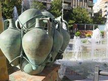 Fontana a Jaen Fotografia Stock Libera da Diritti