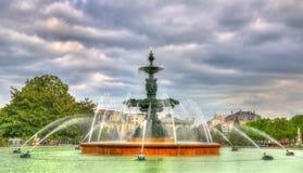 Fontana in Jardin du Mail Angers - la Francia Fotografia Stock Libera da Diritti