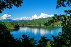 Fontana Lake. On the Appalachian Trail Royalty Free Stock Photography