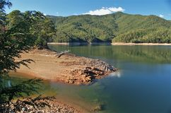 Fontana Lake. Is a reservoir nestled in between the Great Smoky Mountains and the Blue Ridge Mountains of Western North Carolina stock photos