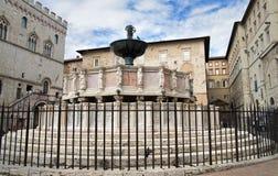 fontana maggiore佩鲁贾翁布里亚 免版税库存照片
