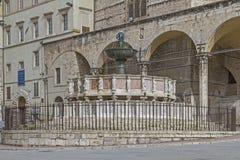 Fontana Maggiore στην Περούτζια Στοκ Εικόνα