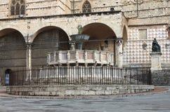 Fontana Maggiore στην Περούτζια Στοκ Εικόνες