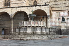 Fontana Maggiore i Perugia Arkivfoto